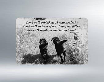 Black Lab Magnet - Black Lab Art 05FRIENDS - Quote Magnets - Black Lab Gifts - Dog Magnets - Fridge Magnets Dog - Inspirational Magnets