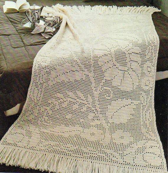 Crochet Wedding Gift Patterns: Afghan Crochet Pattern Crochet Afghan Pattern Filet Crochet