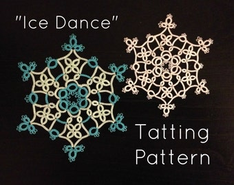"PDF Tatting Pattern - ""Ice Dance"""