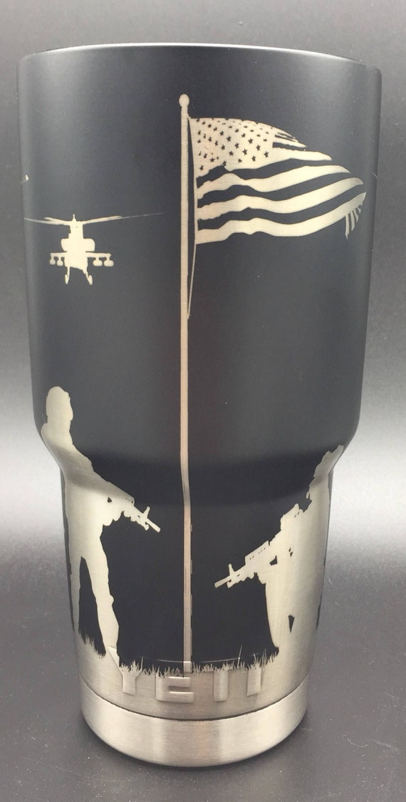 360 Degree Laser Engraved Military Tumbler Armed Forces