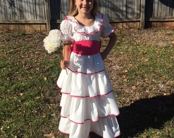 Southern Bell Girl's Costume / Princess / Dress Up / Halloween / Pageant / Trunk