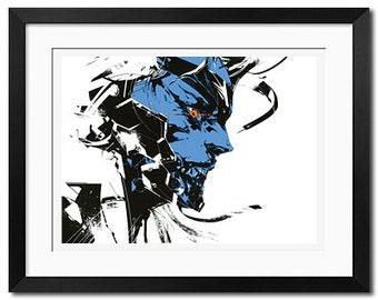 Raiden x Metal Gear Rising Revengeance Urban Art Poster Print