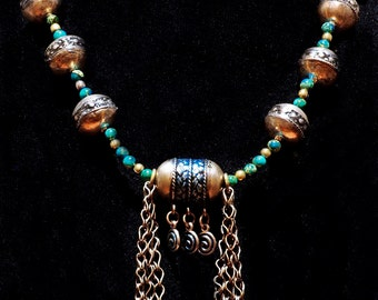 Vintage Exotic Turkoman Beads and Bells