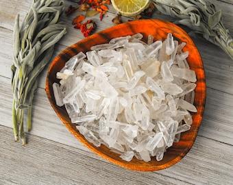 ONE Clear Quartz Crystal Point, Crown Chakra Healing Stone, Meditation Rock, Reiki Gem Gift, Room Decor, Wedding Gift, Master Healer Crystal