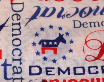 "Democrat Fabric New - 2.5 Yards 44"" x 90"""