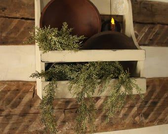 Garden Shelf - Farmhouse Buttermilk White - Primitive/Rustic/Country