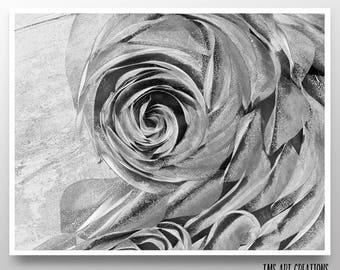 floral art print// floral artwork // abstract art // abstract print // flower art // nature - Flower Blossom art print