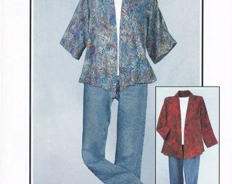 A Little Somethin' Jacket   Size 8, 10, 12, 14, 16, 18, 20, 22-24   Tissue Pattern   By:  CNT Pattern Co.