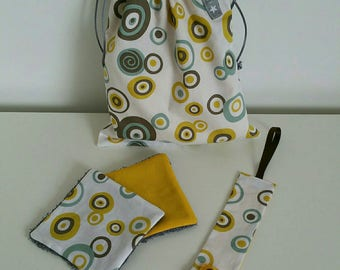 "Kit for the nursery or the walk ""Round yellow"" vintage"