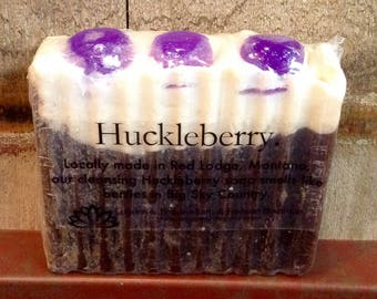 Huckleberry Soap, Natural Soap, Hand and Body Soap, Lotions and Potions