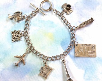 Travel Themed Charm Bracelet