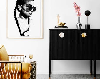 Lewa Art Poster • Afrocentric Art Print, Home Decor, Art Posters, African Wall Art, Black Girl Magic, Melanin, African Art, Black Girl