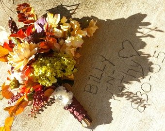 """Custom Order for a Fall """"Natural"""" Woodland Bridal Bouquet"""