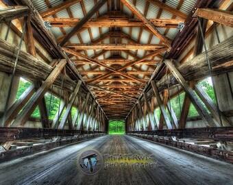 Mechanicsville Covered Bridge Fine Art  Photographic Print, Ashtabula