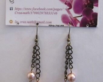 earring type chain Pearl M2