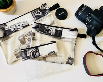 Camera print Vinyl-lined Bags