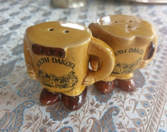 Mount Rushmore South Dakota salt and pepper shaker his and hers