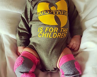 Custom Bodysuit Baby Attire Wutang Clan - Wutang is for the Children