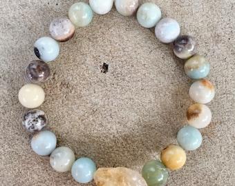 Amazonite and citrine bracelet