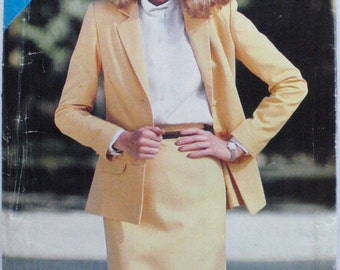 See and Sew Skirt Suit Sewing Pattern - Straight Skirt, Unlined Jacket - Butterick 3020 - Sizes 8-10-12, Bust 31 1/2 - 34, Uncut