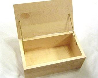 Hinged Hardwood Box - Maple Wood
