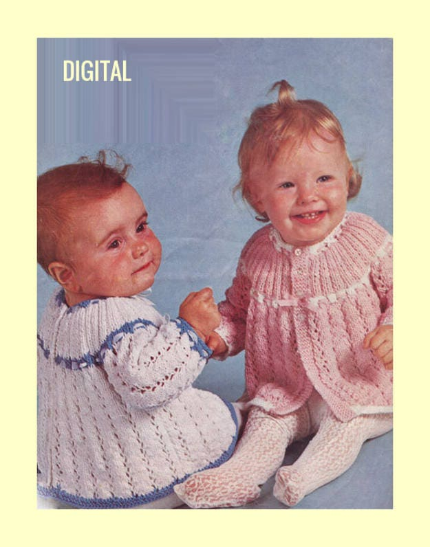 7c7b984d5 Instant Digital PDF Download Vintage Row by Row Knitting Pattern to ...