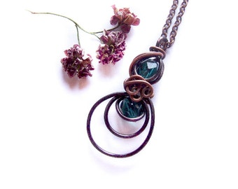 Simple Nautical Wire Wrapped  Necklace Tutorial, Jewelry Tutorial, Pendant Sea Tutorial, Cute DIY Necklace, Tut 53