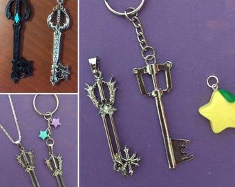 Kingdom Hearts Keyblade necklace, Kingdom Hearts Oathkeeper, Necklace, Oathkeeper Key Chain, Ultima keyblade, Oblivion keyblade