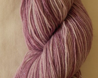 Hand dyed sparkle sock yarn 100g fine merino / nylon / stellina in Jacaranda colourway