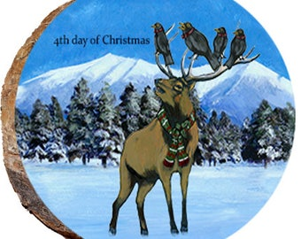 4th Day of Christmas Elk - DX216