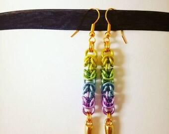 Byzantine Weave Spike Earrings