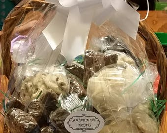 Gluten free gift basket etsy sound mind treats includes cookies brownies or cheesecakes in this decorative gift basket negle Image collections