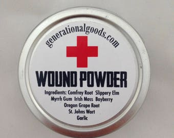 Wound Powder Natural Care for Cuts & Wounds Powdered Stitches Herbal Compound