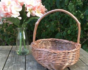 Rose Gold Basket, Easter basket, Easter Decor, Home Decor, Basket, Spring Decor, flower girl basket, wedding, rustic wedding basket