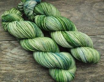 Barbara Manatee - Worsted weight - Hand Dyed Yarn - Superwash Merino - Hand Painted - Variegated Tonal - Hat, Sock, Mitten Yarn