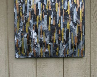 Mixed Metals Abstract Painting