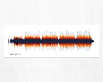 Sound Wave Design - You're So Vain - Sound Wave Art, Voice Print Art