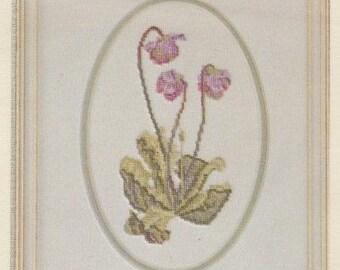 Helen Burgess Counted Thread Design. Pitcher Plant Pattern. HB4010.