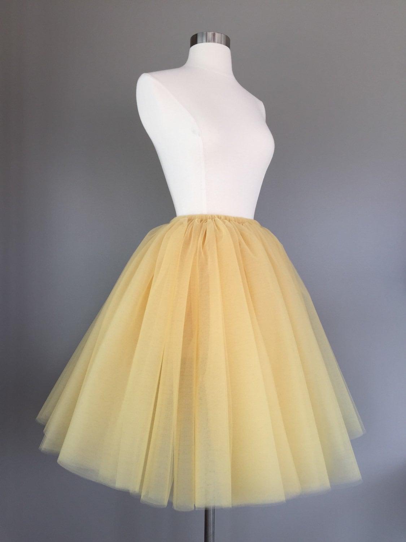 Description Custom Order Sewn Gold Tutu Adult Tulle Skirt