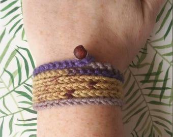 Handmade crochet wraparound bracelet