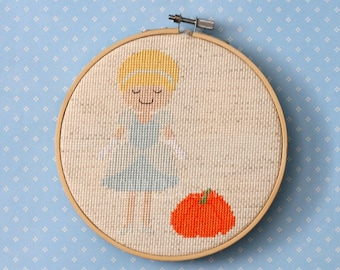 Cinderella Cross Stitch Pattern Instant Download PDF