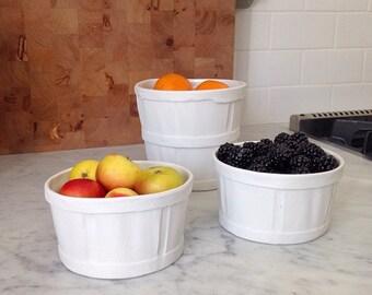Porcelain Fruit Crate- Bowl