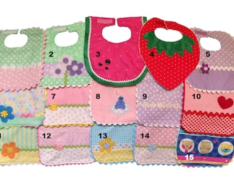 Baby Girl Bibs - Choose from 15!