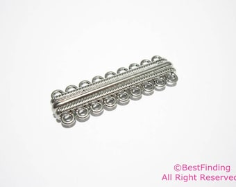 5pcs Multi strand magnetic clasp 9 strands Ribbed loop magnetic clasp