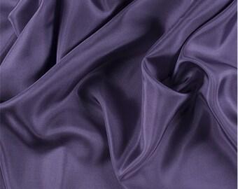 Amethyst Silk Crepe de Chine, Fabric By The Yard
