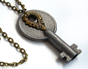 Vintage Key Necklace Handmade Jewelry - Key to the Tower