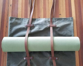 Waxed Canvas Yoga Tote