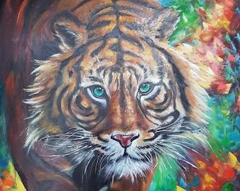 Oil Painting Palette Knife Art - Tigr
