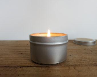 APPLE + CLOVE 3.5 oz Soy Candle in Metal Travel Tin