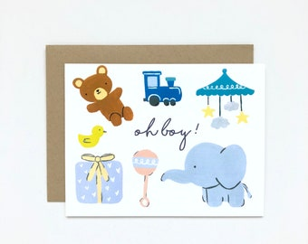 Oh Boy! - Baby Shower Card